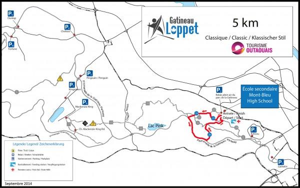 Carte 5km classique - GL2016